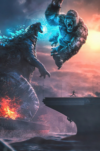 Kong V Godzilla 4k