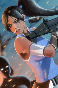 Korra Killing With Gun