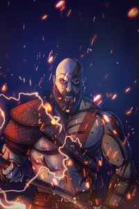 480x800 Kratos 2020 Artwork 4k