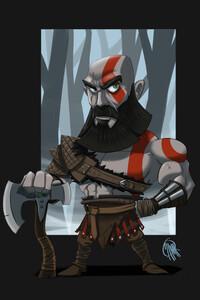 720x1280 Kratos 2020 Minimalism