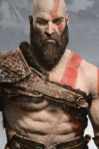 1080x2160 Kratos And Atreus