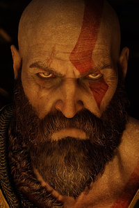 1080x2160 Kratos Angry Eyes God Of War 4