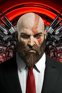 750x1334 Kratos As Hitman