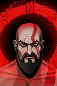 750x1334 Kratos Cartoon Illustration 5k