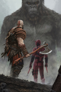 Kratos Dare Devil And King Kong Crossover 4k