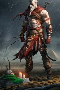 750x1334 Kratos Fanart 4k