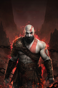 1080x2160 Kratos God Of War 4 2020 4k