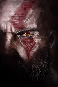 540x960 Kratos God Of War 4 Artwork