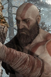 1080x2160 Kratos God Of War 4