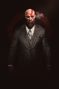 750x1334 Kratos God Of War In Suit 4k