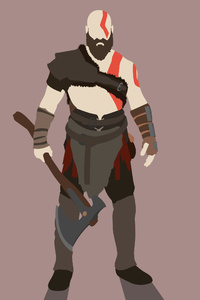 1125x2436 Kratos God Of War Minimalist