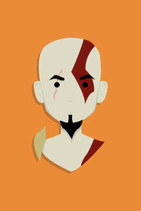 Kratos God Of War Minimalist 4k