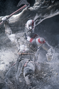 1080x2160 Kratos God Of War Video Game