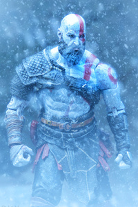 640x960 Kratos God Of War Video Game Hd