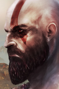 Kratos In God Of War Art