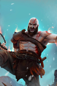 Kratos In God Of War Artwork