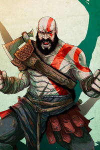 Kratos In God Of War New Art