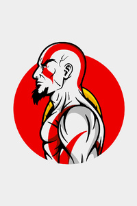 240x320 Kratos Minimal Art 4k