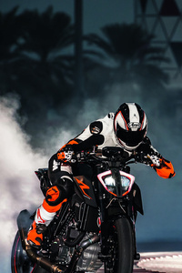 2160x3840 KTM 1290 Super Duke Drifting