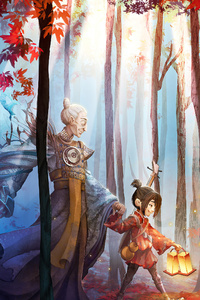 640x1136 Kubo And The Two Strings Fan Art 4k