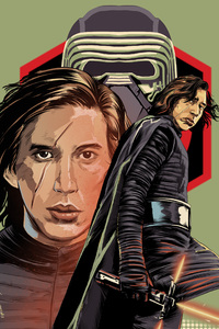540x960 Kylo In Star Wars The Last Jedi Digital Art