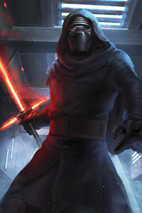 480x854 Kylo Ren 4k Artwork 2020