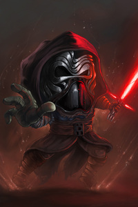 1440x2560 Kylo Ren Cartoon Art