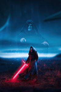 1242x2688 Kylo Ren Force