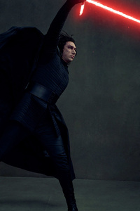 1080x1920 Kylo Ren In Star Wars The Last Jedi 4k Vanity Fair