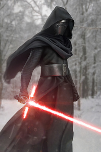 Kylo Ren In The Woods 4k