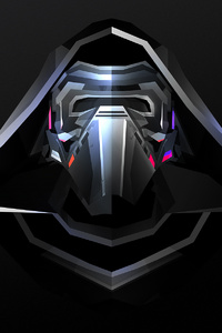 Kylo Ren Star Wars Abstract Facet