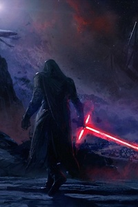 240x400 Kylo Ren Star Wars Art