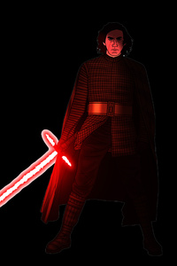 540x960 Kylo Ren Star Wars Artwork 5k