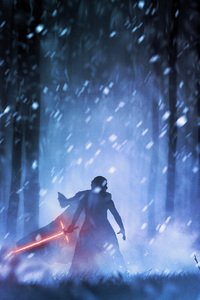 480x800 Kylo Ren Star Wars Digital Art