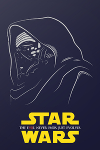 480x800 Kylo Ren Star Wars Illustration