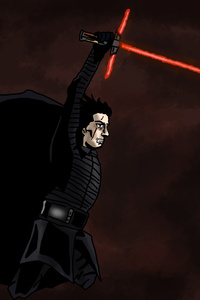 540x960 Kylo Ren Star Wars The Last Jedi 5k Artwork