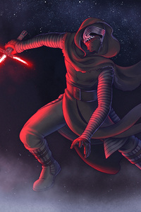 1125x2436 Kylo Ren Star Wars The Last Jedi Artwork