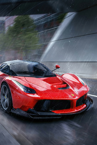 750x1334 La Ferrari In Rain 4k