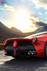 La Ferrari Rear View