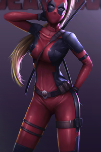 Lady Deadpool 4k