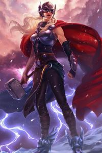 720x1280 Lady Thor Art