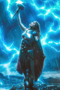 1440x2560 Lady Thor God Of Thunder