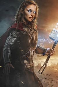 640x960 Lady Thor Love And Thunder 4k 2021