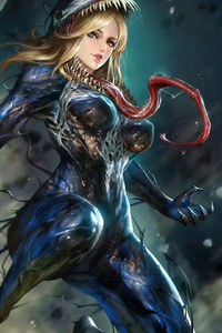 640x1136 Lady Venom Artwork