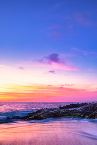 1080x2280 Laguna Beach Seascape Long Exposure 5k