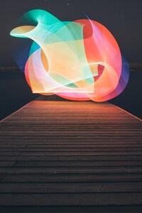 540x960 Lake Light Painting Minimalism
