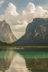 480x800 Lake Mountains Water Reflection Landscape