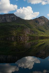 540x960 Lake Reflection Clouds 5k
