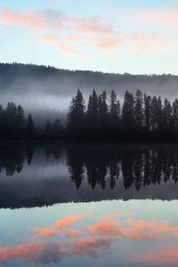 480x800 Lake Reflection Mountains
