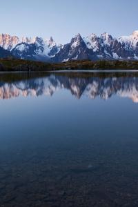 Lake Reflection Mountains 4k